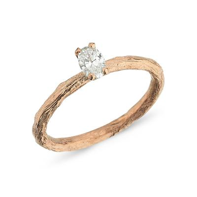 Treasure's Of earth- Oval Diamond Engagement Ring