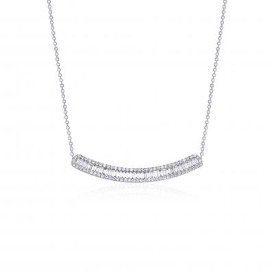 Baguette- Line Diamond Necklace