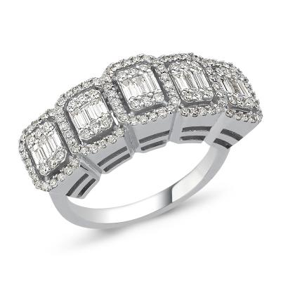 Baguette- Diamond Wedding Band