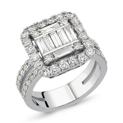 Baguette- Queen Diamond Ring